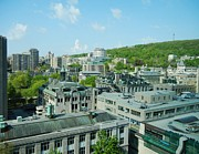 City Of Montreal Framed Prints - View of Montreal  From Royal Victoria College Framed Print by Reb Frost