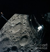 Moon Craters Art - View Of Moon From Apollo 13 by Nasa