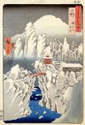 Hiroshige Prints - View of Mount Haruna in the Snow Print by Hiroshige