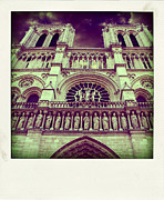 Notre Prints - View of ND de Paris on river Seine. Paris Print by Bernard Jaubert