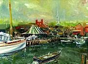 Bannister Painting Originals - View of Newport Harbor I by George Delany