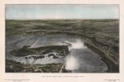 "\""niagra Falls\\\"" Framed Prints - View of Niagra Falls 1907 Framed Print by John Frank"