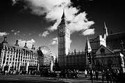 Palace Of Westminster Prints - view of palace of westminster from parliament square houses of parliament buildings London Print by Joe Fox