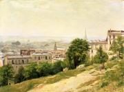 Victor Paintings - View of Paris by Stanislas Victor Edouard Lepine