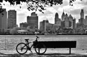 Camden Framed Prints - View of Philadelphia  Framed Print by Andrew Dinh