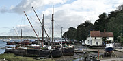 Repairs Framed Prints - View of Pin Mill from Kings Yard Framed Print by Gary Eason