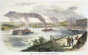 Pittsburgh Framed Prints - View Of Pittsburgh, 1853 Framed Print by Granger