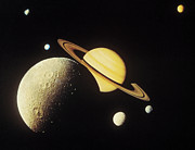 Satellite View Posters - View Of Planets In The Solar System Poster by Stockbyte