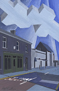 Dublin Painting Originals - View of Post Office Howth by Alan McLeod