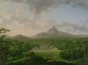 Ireland Painting Posters - View of Powerscourt - County Wicklow Poster by George the Elder Barret