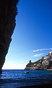 Overhang Photo Metal Prints - View of Praiano Italy Metal Print by Cliff Wassmann