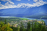 Mountainous Photos - View of Revelstoke in British Columbia by Elena Elisseeva