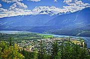 View Of Revelstoke In British Columbia Print by Elena Elisseeva