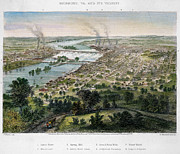 American City Prints - View Of Richmond, 1863 Print by Granger