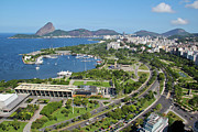 View Over Framed Prints - View Of Rio De Janeiro City Framed Print by Ruy Barbosa Pinto