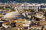 Pantheon Framed Prints - View of Romes rooftops taken from the Vittorianos panoramic vi Framed Print by Fabrizio Troiani