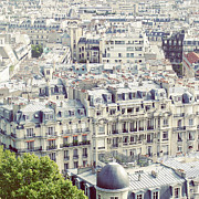 French Culture Metal Prints - View Of Roofs Of Paris Metal Print by by Smaranda Madalina Cheregi