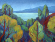Berkeley Originals - View of San Francisco Bay by Linda Ruiz-Lozito