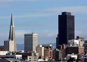 San Francisco Metal Prints - View Of San Francisco Downtown Metal Print by Luiz Felipe Castro
