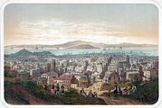 Lithographs Photos - View Of San Francisco, With People by Everett