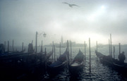 Ghostly Prints - View of San Giorgio Maggiore from the Piazzetta San Marco in Venice Print by Simon Marsden