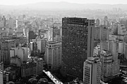 Black And White Photography Photos - View Of Sao Paulo by Jacobo Zanella