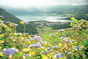 Crater Lake View Photos - View of Sete Cidades crater by Gaspar Avila