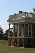 Poplar Forest Photo Metal Prints - View of South Portico at Poplar Forest Metal Print by Teresa Mucha