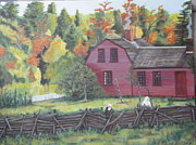 Sturbridge Village Originals - View of Sturbridge Village by Cynthia Ablicki
