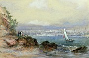 Sydney Harbour Prints - View of Sydney Harbour Print by Conrad Martens