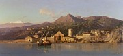 View Of Taormina Sicily Print by Alessandro la Volpe