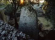 Zimbabwe Metal Prints - View Of The 8th Century Conical Tower Metal Print by James L. Stanfield