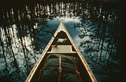 Color-point Framed Prints - View Of The Bow Of A Canoe Set Framed Print by Sam Abell