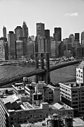 East River Prints - View of the Brooklyn Bridge Print by Madeline Ellis