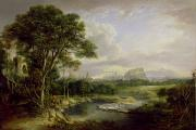 Mound Metal Prints - View of the City of Edinburgh Metal Print by Alexander Nasmyth