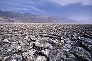 Chopped Photos - View of the Devils Golf Course Death Valley California by George Oze