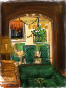 Golden Digital Art - View of the dining room by Russell Pierce