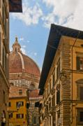 Florence Framed Prints - View of the Duomo Framed Print by Mick Burkey