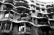 Architectural Feature Photos - View of the exterior of La Pedrera building by Gaudi by Sami Sarkis
