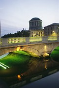 Governmental Prints - View Of The Four Courts And The Liffey Print by Richard Nowitz