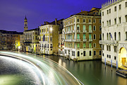 Italian Night Life Prints - View Of The Grand Canal From Rialto Bridge Print by Scott E Barbour