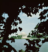 River View Photo Metal Prints - View of the Jefferson Memorial Metal Print by John Russell Pope