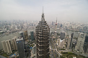 Communications Tower Prints - View Of The Jin Mao Tower In Shanghai Print by Win Initiative
