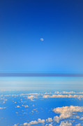 Stratosphere Prints - View of the Moon from the Stratosphere Print by Bill Cannon