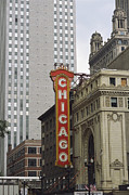 Cityscapes Art - View Of The Neo-baroque Chicago Theatre by Paul Damien