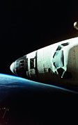 Shuttle Prints - View Of The Nose Of Space Shuttle Print by Stockbyte