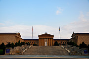 Museum Of Art Prints - View of The  Philadelphia Museum of Art Print by Bill Cannon