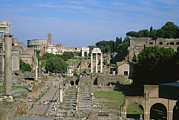 Art Roman Prints - View Of The Roman Forum Print by Taylor S. Kennedy