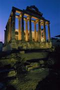 Diana Posters - View Of The Roman Temple Of Diana Poster by James L. Stanfield