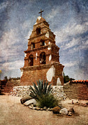 Laura Iverson Framed Prints - View of the San Miguel Bell Tower Framed Print by Laura Iverson